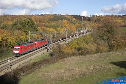 186 340+330 DB Cargo . E 48268 . Gemmenich . 08.11.18.