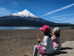 well-earned ice-creams after a long walk up the volcano