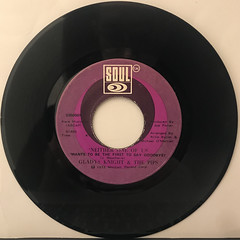GLADYS KNIGHT & THE PIPS:NEITHER ONE OF US(RECORD SIDE-A)