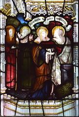 St Joseph, Zechariah, Blessed Virgin and St Elizabeth at the Visitation (Kempe & Co, 1892)