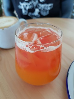 Pineapple, Grapefruit, Ginger, and Turmeric Juice at Flora