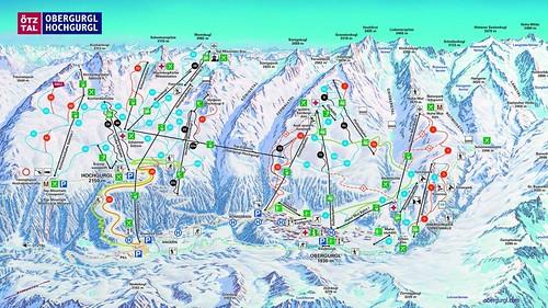 Obergurgl Hochgurgl - mapa sjezdovek