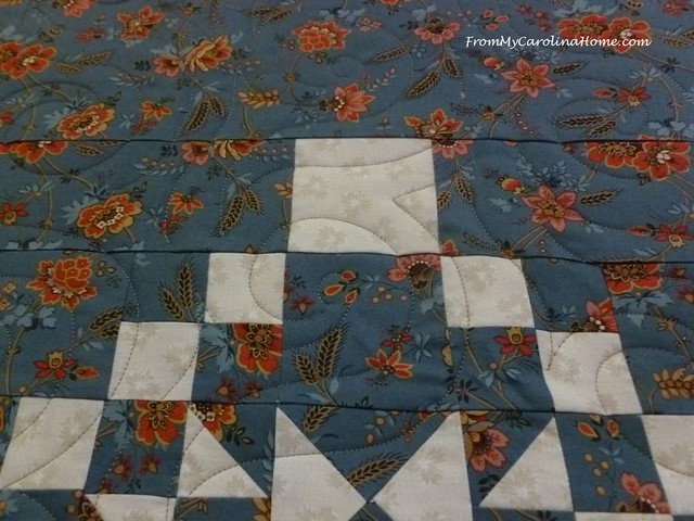 Blue Quilt for Hurricane Project at FromMyCarolinaHome.com