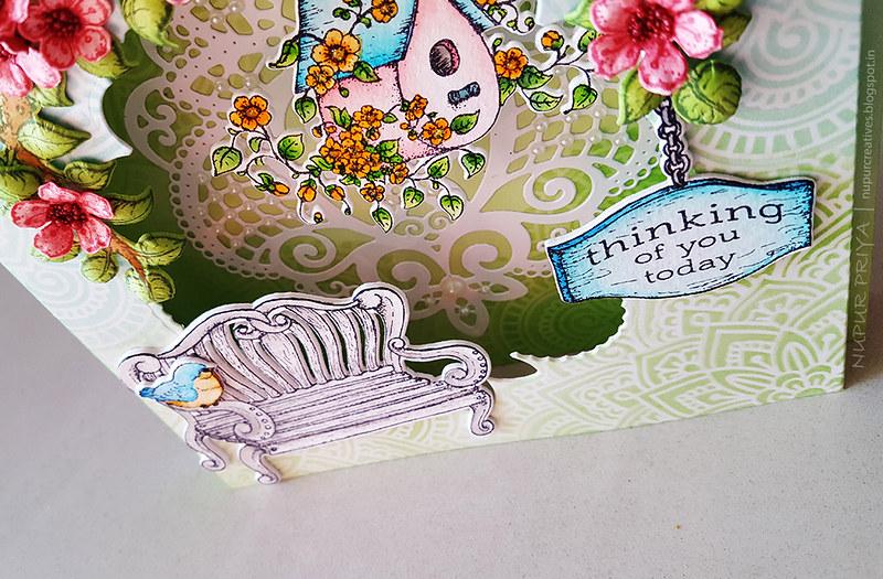 Cherry Blossom Box Card 6_Nupur Creatives