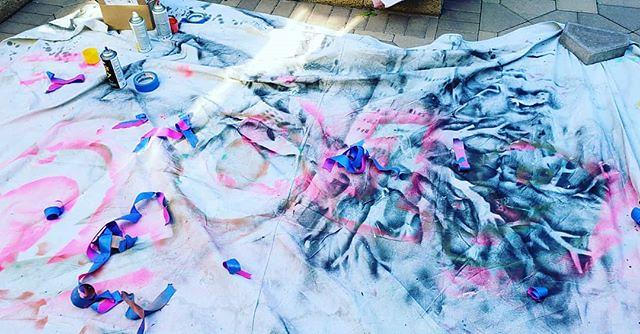 Paint tarp art.