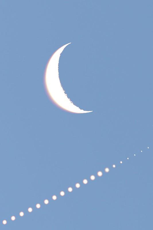 月と金星の接近 (2019/1/2 04:10-07:20)