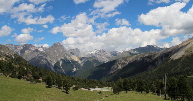 Pěší turistika národním parkem, Val Mingér – Val Plavna - Tarasp