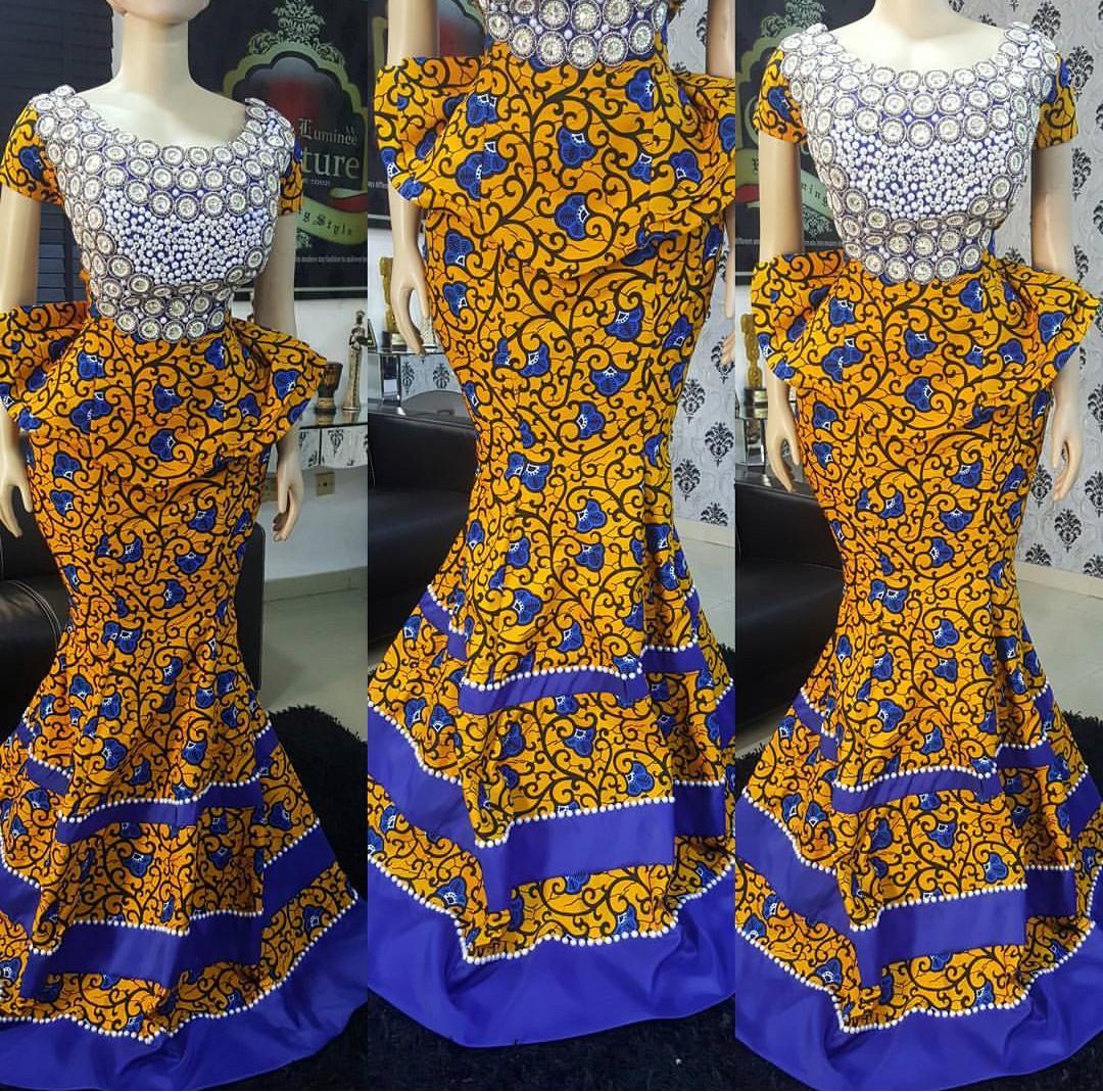 Wedding Ankara's Skirt & Blouse Styles 2019 1