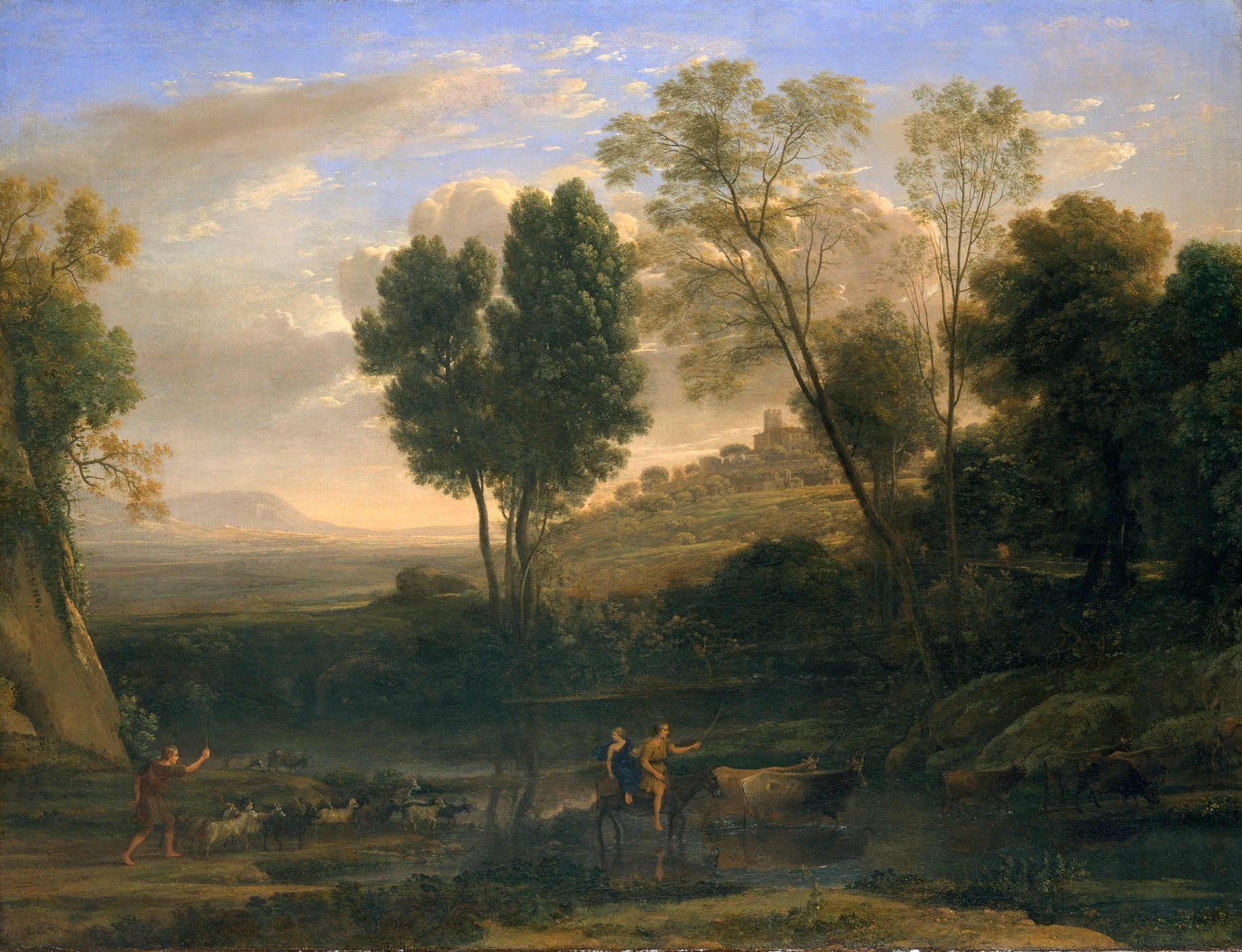 Amanecer (Sunrise), oil on canvas by Claude Lorrain, 1646-1647. Currently in the collection of the Metropolitan Museum of Art (not on display).