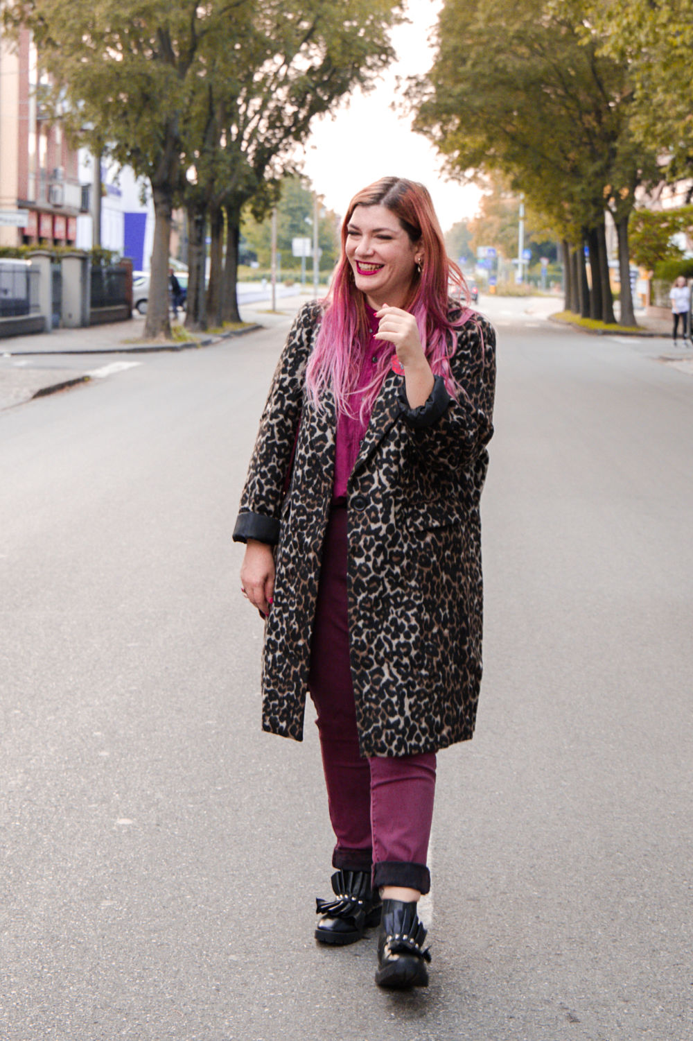 outfit plus size cappotto leopardato animalier (8)