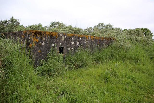 Old World War II pillbox at Saltfleet