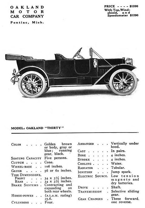 "1910 Oakland ""Thirty"""