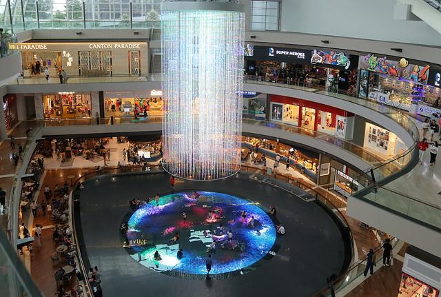 Interactive light attraction at Marina Bay Sands