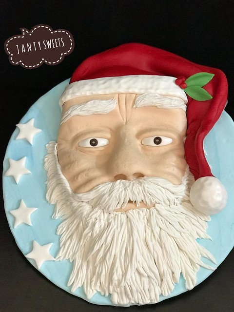 Santa Clause Cake by Janty Sweets