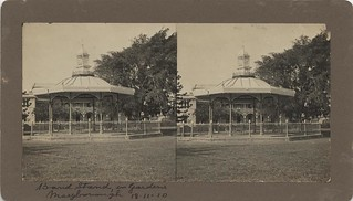 Bandstand in the gardens at Maryborough, 1910