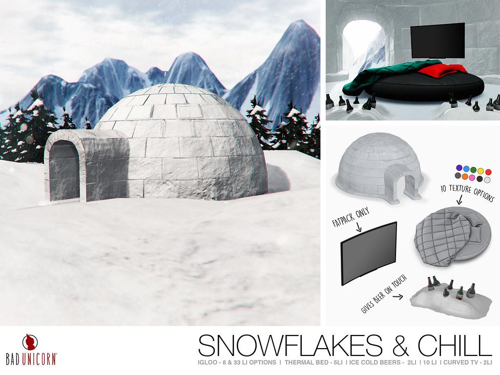 NEW! Snowflakes & Chill Set @ KUSTOM9