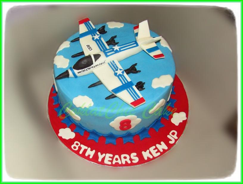 Cake Pesawat Tempur KEN JP 24 cm