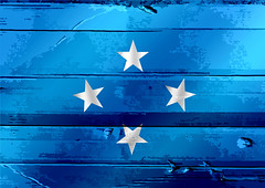 Federated States of Micronesia flag themes idea design