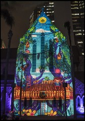 Projected Image on to St Stephens Cathedral-1=