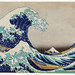 Kanazawa Oki Nami Ura by Katsushika Hokusai (1760-1849) a traditional Japanese Ukyio-e style illustration of extreme waves bearing down on the boats with a view of Mount Fuji. Original from Library of Congress. Digitally enhanced by rawpixel.