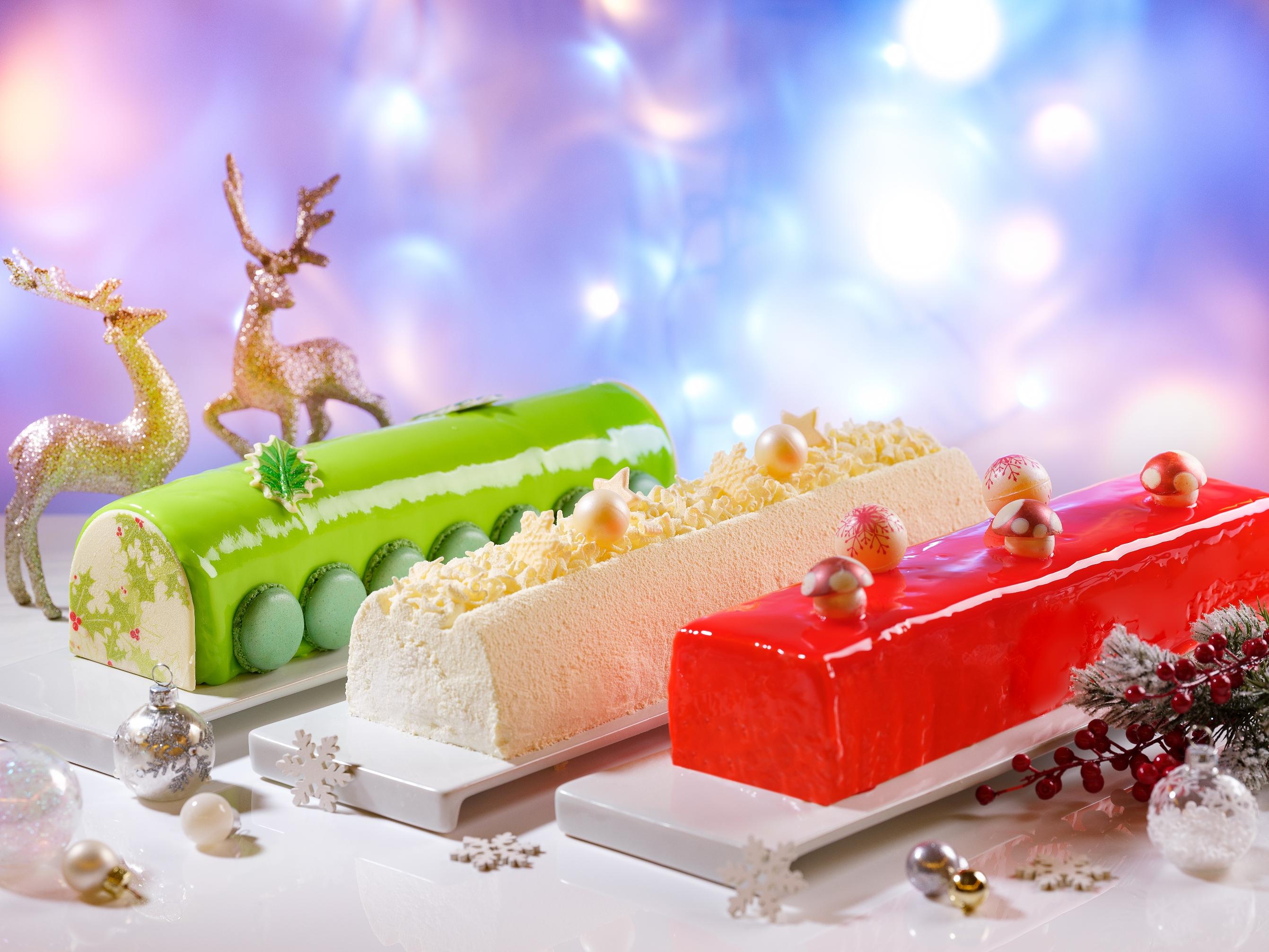新加坡万豪堂广场酒店Pistachio奶油芝士原木蛋糕诺埃尔白森林树莓古拉美拉卡椰子原木蛋糕