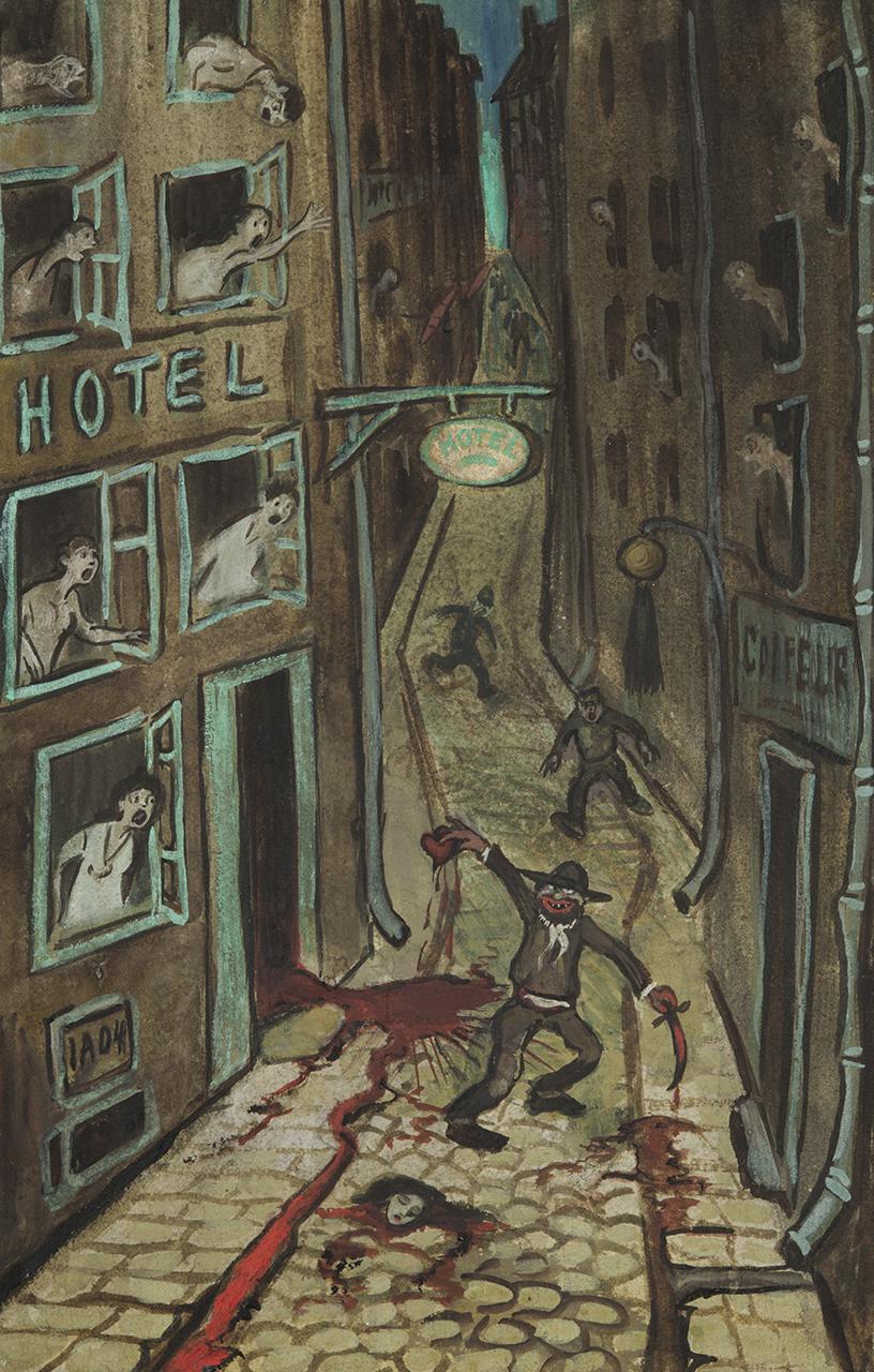 Ivar Arosenius - A Parisian Murder Drama, 1904