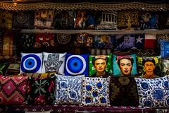 Pillows in a shop, Plaka, Athens, Greece
