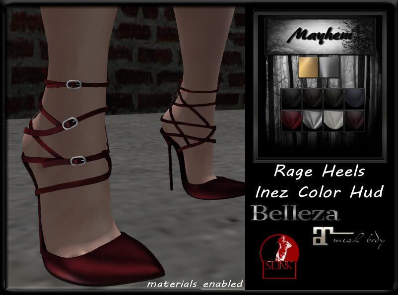 Mayhem Rage Heels Inez Outfit Colors - TeleportHub.com Live!