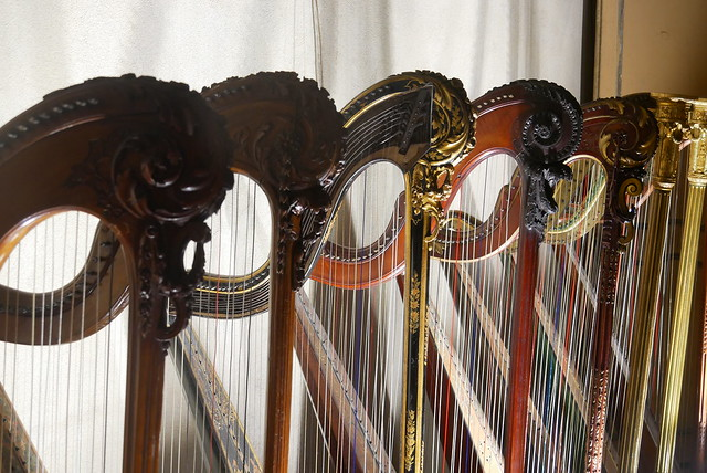 Old harps exhibition, Panasonic DMC-GX80, LUMIX G VARIO 14-140mm F3.5-5.6