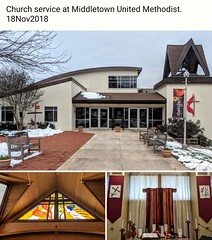 Church service at Middletown United Methodist. 18Nov2018