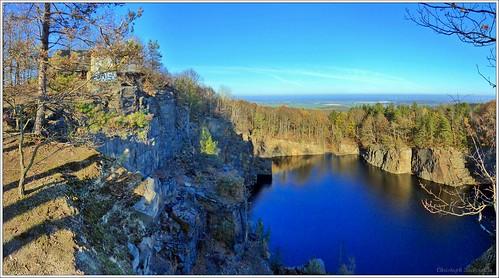 Blick von der Firstensteinkuppe in den Thadenbruch