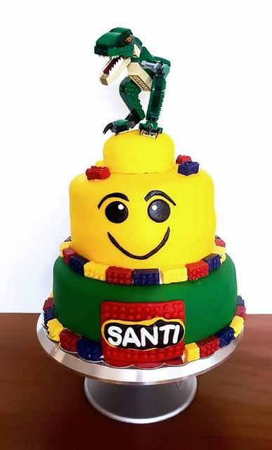 Lego Cake by Heather Spear-Ventre of Batter Splatter