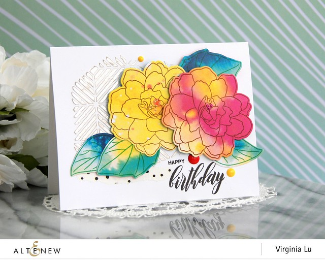 Altenew-WispyBegonia-Enchanting Wishes PaperPad-Virginia#1