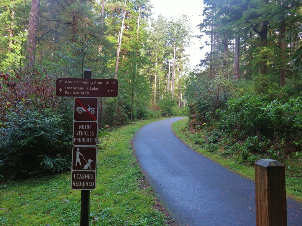 Trail to East Woahink Lake Day Use Area