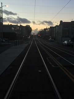 The streetcar approaches