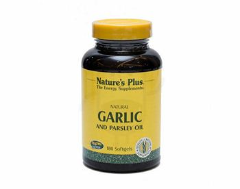 NATURE'S PLUS GARLIC AND PARSLEY OIL KAPSUL LUNAK BOX 180 TABLET