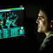 Staff Sgt. Wendell Myler, a cyber warfare operations journeyman assigned to the 175th Cyberspace Operations Group of the Maryland Air National Guard monitors live cyber attacks on the operations floor of the 27th Cyberspace Squadron, known as the Hunter's Den, at Warfield Air National Guard Base, Middle River, Md., June 3, 2017. (U.S. Air Force photo by J.M. Eddins Jr.)