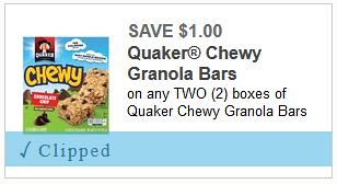 photograph relating to Quaker Printable Coupons called 2 Fresh new Quaker Discount coupons: Conserve $1/1 Quaker Oatmeal and $1/1 Chewy