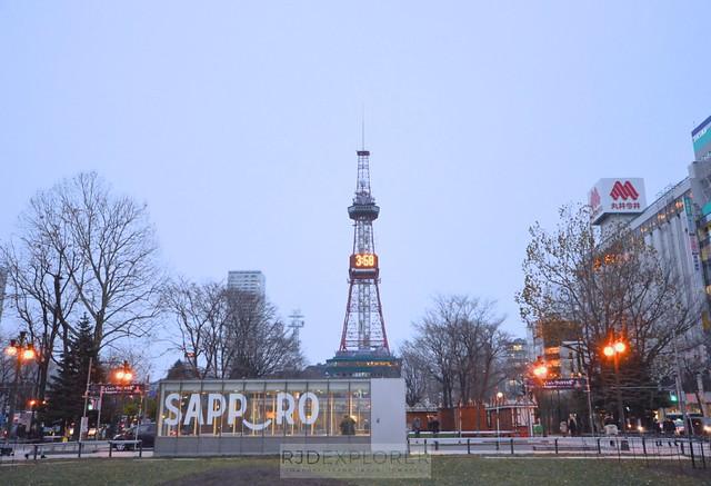 hokkaido itinerary sapporo tv tower