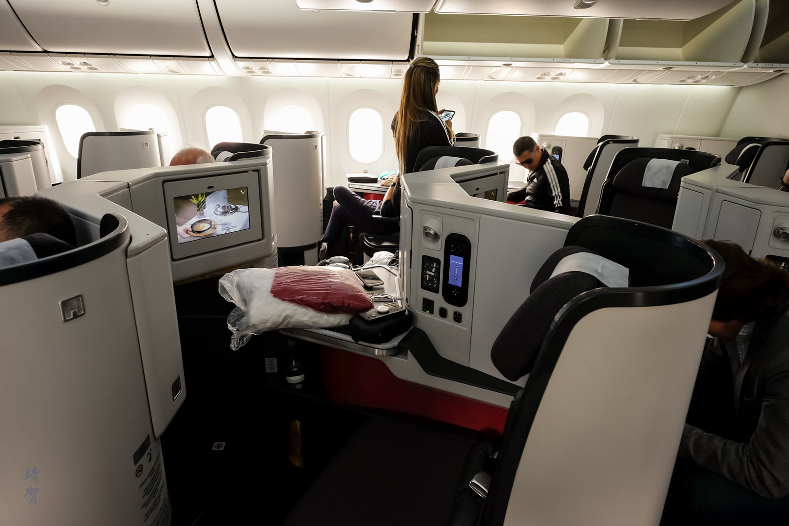 Overview of the Business Class cabin