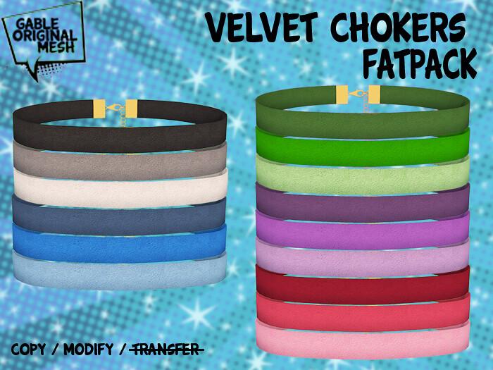Velvet Choker – Fatpack