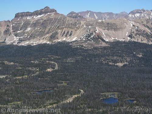 Mt. Agassiz' ridge in the High Uintas of Utah