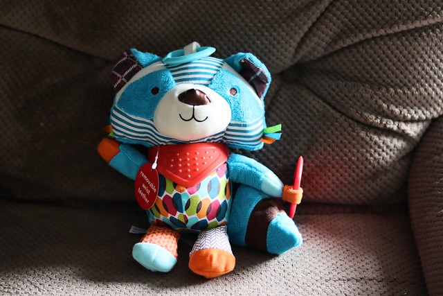 Skip Hop Bandana Buddies Stroller Toy Raccoon
