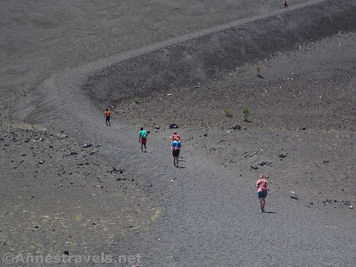 Beginning the climb up the Cinder Cone in Lassen Volcanic National Park, California