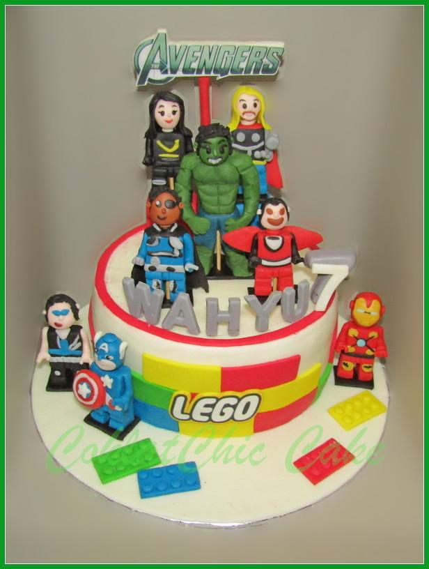 Cake Lego The Avengers WAHYU  18 cm