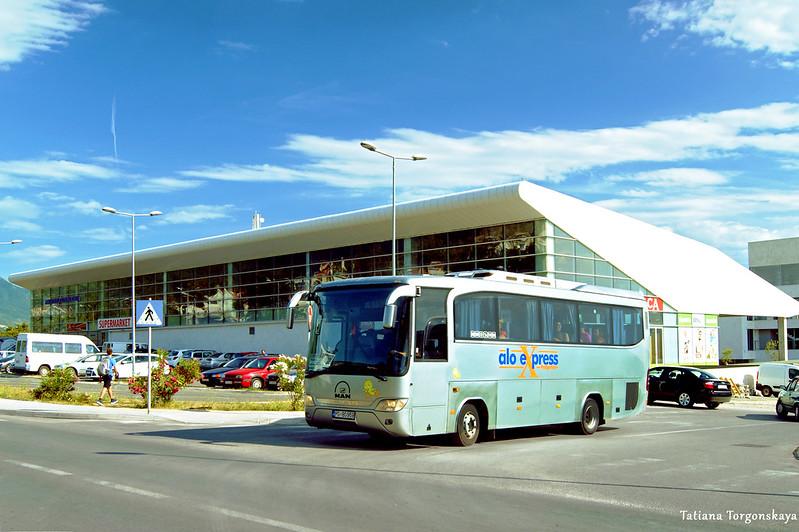 Междугородний автобус уезжает в Игало с автостанции Тивата