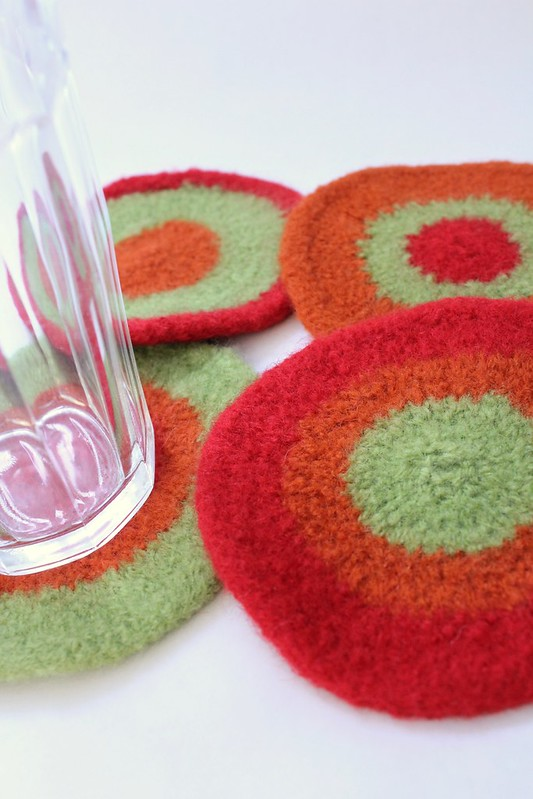 Felted Coasters - Lauren