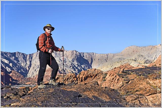 Red-Rock Hiker (Explored), Nikon D750, AF-S Nikkor 24-120mm f/4G ED VR