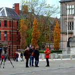 Filming at Preston Cenotaph