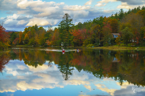 a7rii alpha emount fe85mmf18 ilce7rm2 ludlow newengland sony vt vermont windsor autumn boats canoe clouds fall foliage forest fullframe house lake landscape leaves mirrorless reflection trees water